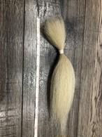ヤクの毛 白 24cm(約9.5inch),10g