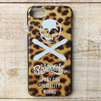 RAKUGAKI Stencil Skull Logo iPhone Case For iPhone7 Leopard Black