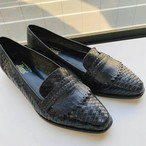 【G.H.Bass & Co.】 black mesh leather loafer (6 1/2 M)