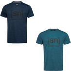 [sn] super.natural スーパーナチュラル メンズ 半袖Tシャツ snロゴ M TEMO I.D. TEE  メリノウール SNM005240 I46(リージョンブルーメランジ) I23(ブルーアイリスメランジ)