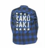 RAKUGAKI Work Check Nell Shirts  BLUE CHECK
