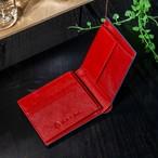 BS-9065 サフィアーノ 牛革 二つ折り財布