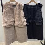 ラビットファーベスト ファーベスト ベスト 韓国ファッション