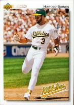 MLBカード 92UPPERDECK Harold Baines #158 ATHLETICS