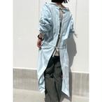 【RehersalL】2way medical onepiece gown(sax) /【リハーズオール】2wayメディカルワンピースガウン(サックス)