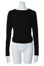 オープンバックTシャツ ブラック