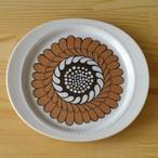 ドイツ製ローゼンタール レトロなブラウン花柄 楕円 デザートプレート 21cm 中皿 ケーキ皿 Rosenthal Caldo Freddo Dessert Plate #160811-01~06 アンティーク ヴィンテージ 食器 陶器 ビンテージ