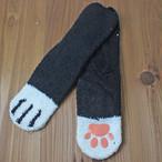 【ルームソックス】猫の足ソックス(白黒)【猫雑貨 靴下】