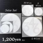 346ロゴ定番ステッカー【3枚セット】White