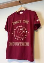 hs-03『ACTIVE』 hunt オリジナルカレッジロゴTシャツ ・バーガンディー
