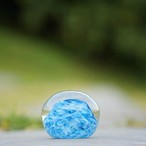 O様オーダー品 ペーパーウェイト(空と雲)(ばんしるー) 【琉球ガラス工房 雫】