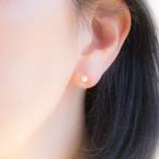 アコヤ真珠*ベビーパールのシンプルひとつぶイヤリング(ノンホールピアス)