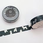 【デコレクションズ】マスキングテープ「bichon frise」ビションフリーゼ【mt-852】