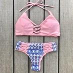 Bikini♡パステルピンクブラジリアンビキニ GSB18S043PNK