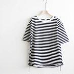 have a good day ハブアグッドデイ ボーダールーズTシャツ White/Black 【返品交換不可】 (品番hgd-036b)