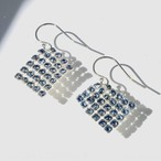 SQUARE UNICOLOR EARRINGS  XS