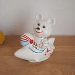 【ロシア】 ミーシャ 陶器の人形 (大・ロケット) こぐまのミーシャ 旧ソ連 USSR