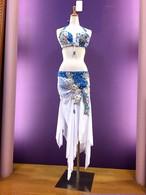 ベリーダンス衣装 白&ブルー