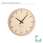 KATOMOKU plywood wall clock 5 km-50NRCS SKP電波時計