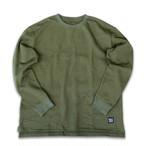 HALFTRACK PRODUCTS ポケット付きロングスリーブTシャツ ハーフトラックプロダクツ(オリーブ)