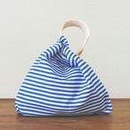 ショルダーバッグ 青縞×オレンジの波