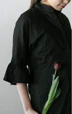 Olga     シャツドレス・アンブレラスリーブ(Cotton)