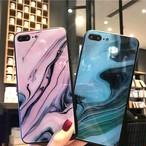 マーブル 大人 カラー iPhone シェルカバーケース ピンク ブルー ブラック シンプル お洒落 個性的 ★ iPhone 6 / 6s / 6Plus / 6sPlus / 7 / 7Plus / 8 / 8Plus / X ★ [MD232]