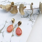【London collection】Orange Quartzite pierce