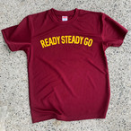 READY STEADY GO T-SHIRTS BURGUNDY
