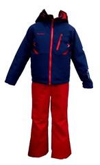 P8182P01 子供スキースーツ(ジャケット:ネイビー、パンツ:レッド)