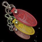 革キーホルダー (赤、黄、茶)
