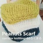Peanuts Scarf(ピーナッツスカーフ)の編み物キット