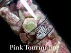 超お買い得!【鉱物標本セット大】トルマリン ピンク系 ボトル 瓶詰め T127 原石 宝石 天然石 鉱物セット