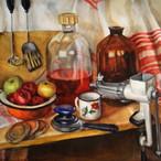 絵画 インテリア アートパネル 雑貨 壁掛け 置物 おしゃれ 油絵 水彩画 鉛筆画 花 自然 風景 静物画 ロココロ 画家 : Uliana ( ウリャーナ ) 作品 : u-18