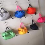 【sandglass】nylon eco bag(handle  navy) / 【サンドグラス】ナイロン エコ バッグ(持ち手 ネービー)