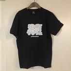 爆乳アンフェTシャツ(黒×グレー白)