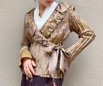 (PAL) glossy sash blouse