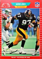 NFLカード 89PROSET AARON JONES #350 STEELERS