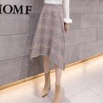 【ボトムス】切り替えファッションチェック柄スカート24446361