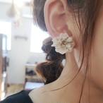 イヤリング_紫陽花の一粒ピアス&イヤリング_カフェシリーズ「甘いミルクティー」