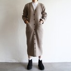 PHEENY【 womens 】12g rib knit long cardigan
