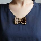 brooch stripe ribbon / ストライプリボンブローチ
