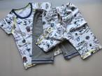 海図パジャマ ズボン2枚セット 【日本製】海図&グレー