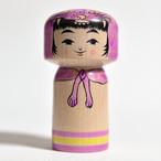 ハロウィンこけし(ねこかぶり)パープル 3寸 約9cm 林貴俊 工人(石巻こけし)#0006