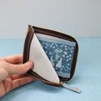 開けてときめく*ブルーグレーの本革財布【忘れな草の約束