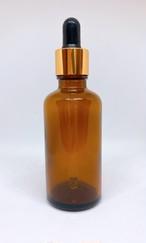 【スポイト ボトルグラス】50ml 茶色 ブラウン ゴールド 遮光 ガラス製 黒色 ブラック スポイト 化粧水 エッセンシャルオイル 美容液 アロマ 詰替え用 詰替