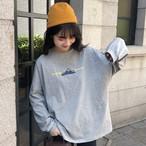 【tops】カジュアル長袖アルファベットラウンドネックTシャツ18216399