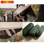 BUSHMEN ブッシュメン 3×3 THERMO-TRAP ハンモック 軽量 カラビナ パラシュート 耐水 レスキューシート タープ 自然派 キャンプ アウトドア