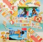 【キット】パターンペーパーで遊ぶカラフルな夏の12インチレイアウト