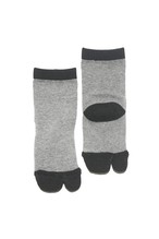 NODAL×今宿麻美 Two-tone Sox KIDS Gray × Black